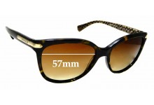 Sunglass Fix New Replacement Lenses for Coach HC8132 - 57mm Wide