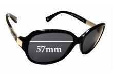 Sunglass Fix Replacement Lenses for Coach Annette HC 8039 - 57mm wide