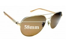 Sunglass Fix Replacement Lenses for Coach HC 7053 - 58mm wide