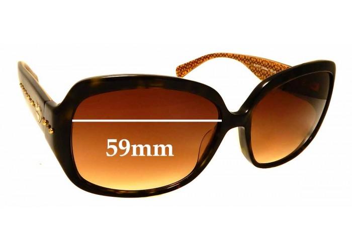 Fuse Lenses Polarized Replacement Lenses for Coach Bridget HC8043 59mm
