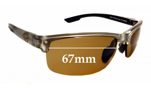 Sunglass Fix Replacement Lenses for Costa Del Mar Indio - 67mm Wide