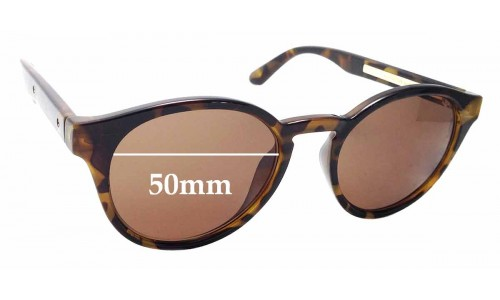 Sunglass Fix Replacement Lenses for Country Road Bec - 50mm Wide