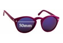 Sunglass Fix Replacement Lenses for Derek Cardigan Ash - 50mm Wide