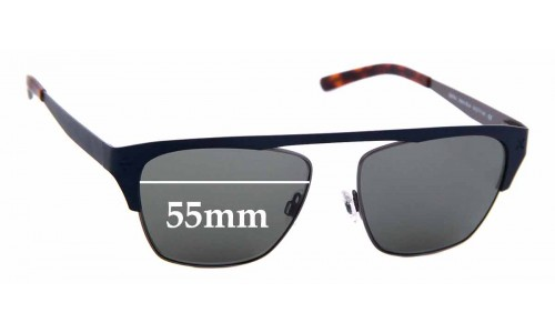 Sunglass Fix Replacement Lenses for Derek Cardigan Spitfire - 55mm Wide