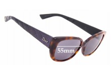 Sunglass Fix Replacement Lenses for Christian Dior - Dior Lady 2R - 55mm Wide