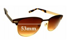 Sunglass Fix Replacement Lenses for Dirty Dog Panda Face - 53mm