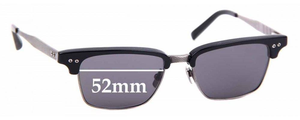 Sunglass Fix Replacement Lenses for Dita Statesman Three DRX 2064 A - 52mm wide