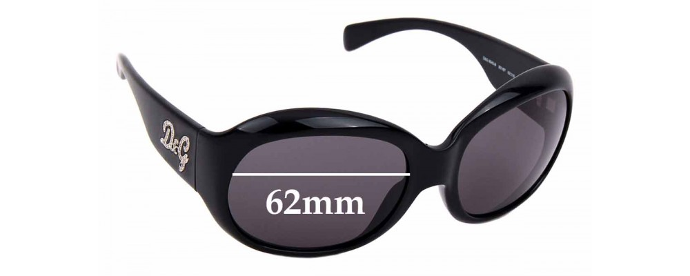 Sunglass Fix Replacement Lenses for Dolce & Gabbana DG 8045-B - 62mm wide