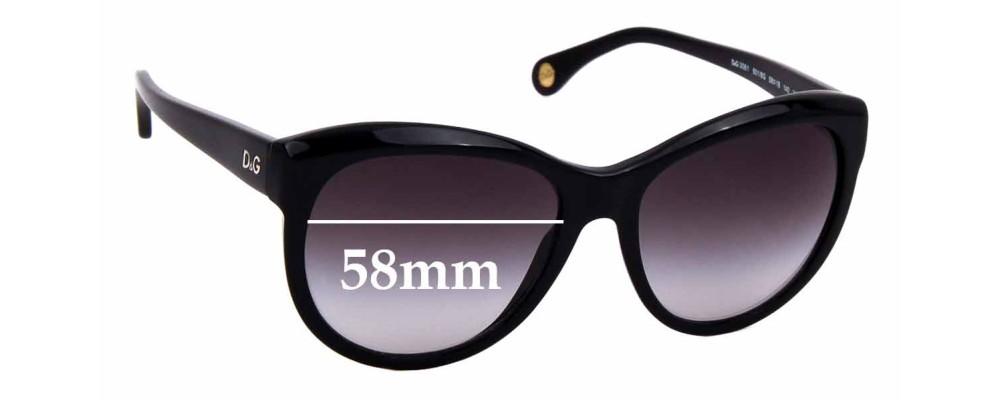 Sunglass Fix Replacement Lenses for Dolce & Gabbana DG3061 - 58mm wide