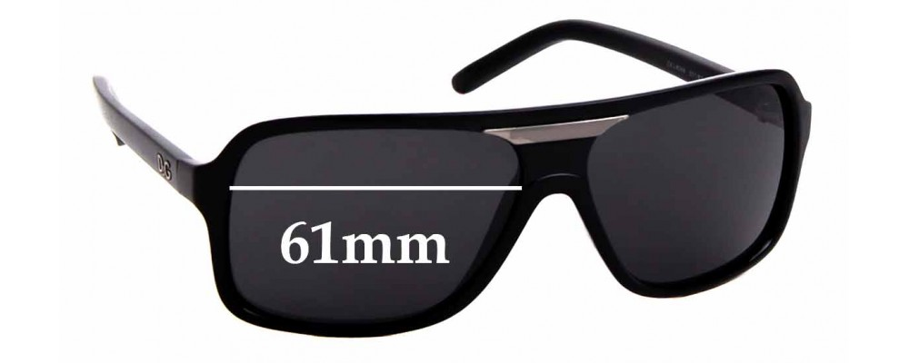 Sunglass Fix Replacement Lenses for Dolce & Gabbana D&G 8068 - 61mm wide