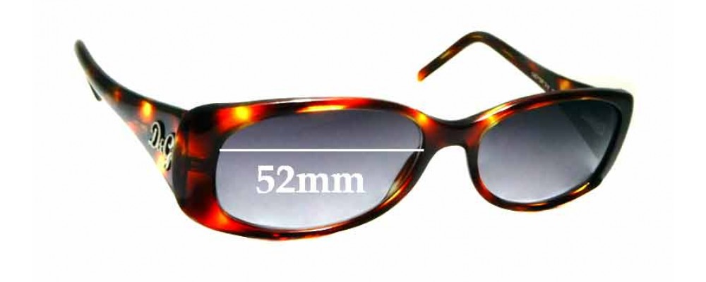 Sunglass Fix Replacement Lenses for Dolce & Gabbana DG1124 - 52mm wide