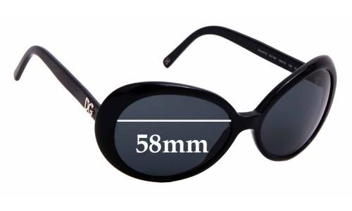 Sunglass Fix Replacement Lenses for Dolce & Gabbana DG4076 - 58mm wide