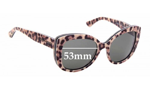Sunglass Fix Replacement Lenses for Dolce & Gabbana DG4233 - 53mm wide
