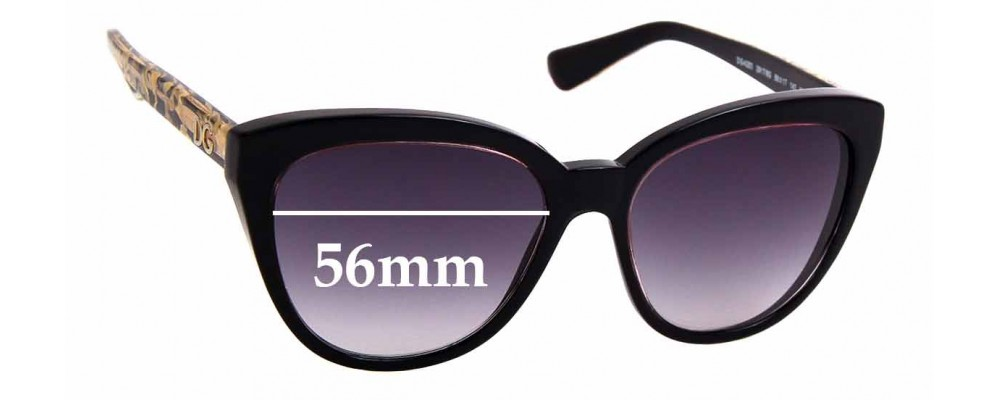 Sunglass Fix Replacement Lenses for Dolce & Gabbana DG4250 - 56mm wide