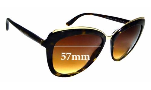 Sunglass Fix Replacement Lenses for Dolce & Gabbana DG 4304 - 57mm wide
