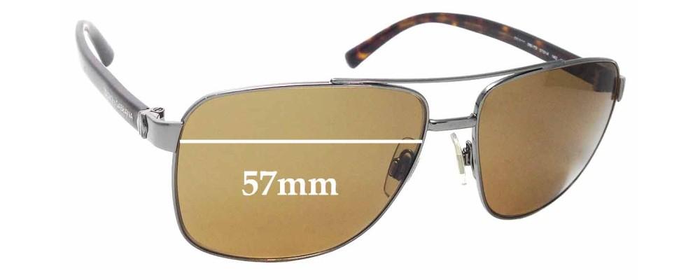 Sunglass Fix Replacement Lenses for Dolce & Gabbana DG2131 - 57mm wide