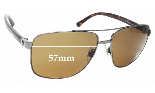 Sunglass Fix Replacement Lenses for Dolce & Gabbana DG2131 - 57mm wide