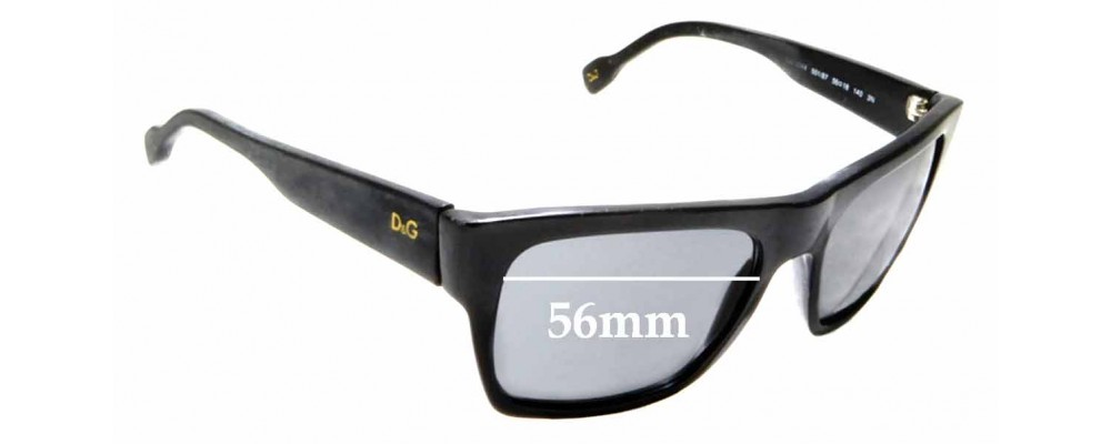 Sunglass Fix Replacement Lenses for Dolce & Gabbana DG3044 - 56mm wide