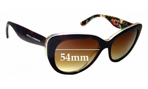 Sunglass Fix Replacement Lenses for Dolce & Gabbana DG4189 - 54mm wide
