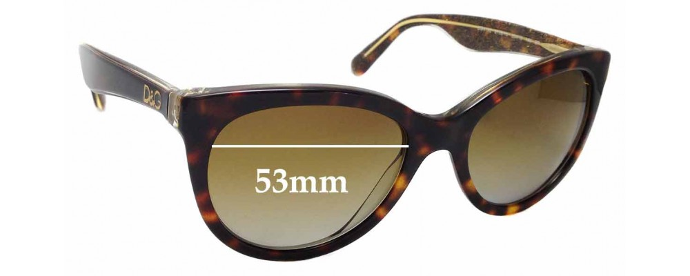 Sunglass Fix Replacement Lenses for Dolce & Gabbana DG4192 - 53mm wide