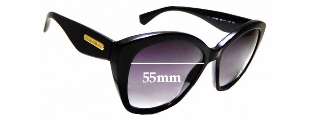 Sunglass Fix Replacement Lenses for Dolce & Gabbana DG 4220 - 55mm wide