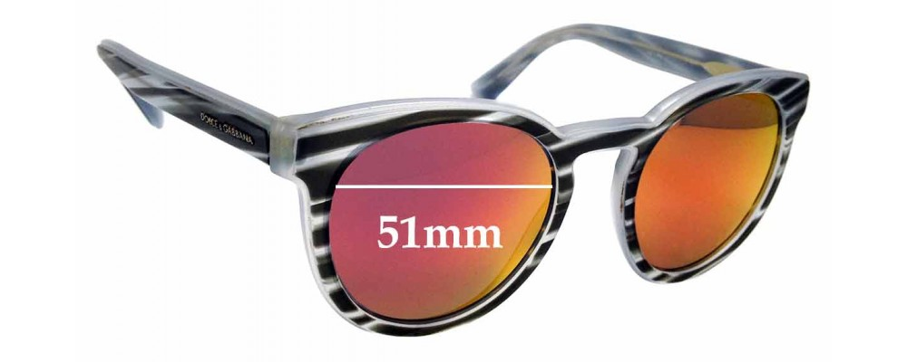 Sunglass Fix Replacement Lenses for Dolce & Gabbana DG4285 - 51mm wide