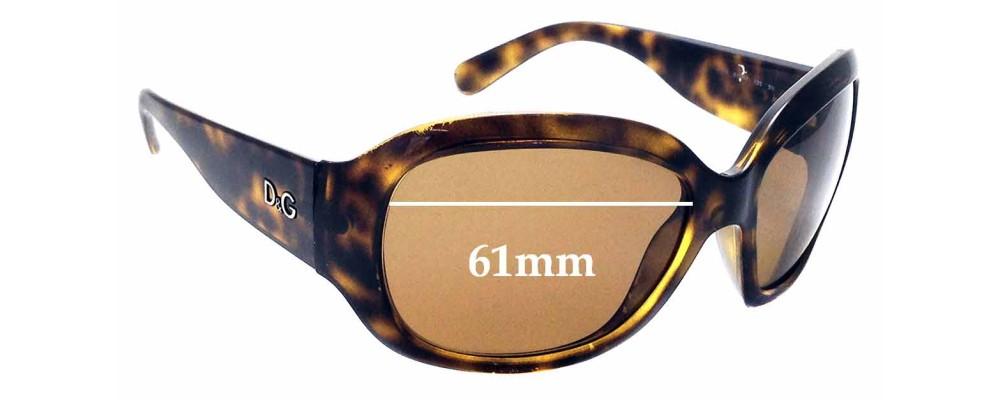Sunglass Fix Replacement Lenses for Dolce & Gabbana D&G 8066 - 61mm wide