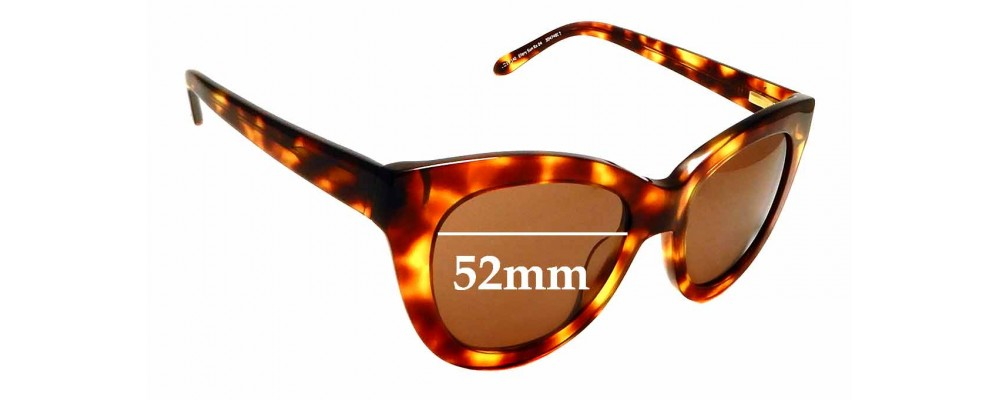 Sunglass Fix Replacement Lenses for Ellery Sun Rx 04 - 52mm Wide