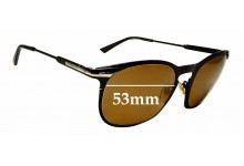 Sunglass Fix Replacement Lenses for Emporio Armani EA 9804 S - 53mm wide