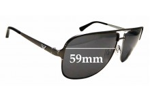 Sunglass Fix Replacement Lenses for Emporio Armani EA 2007 - 59mm wide