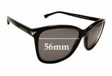 Sunglass Fix Replacement Lenses for Emporio Armani EA4060 - 56mm wide