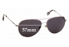Sunglass Fix Replacement Lenses for EMPORIO ARMANI EA 2010 - 57mm wide