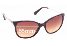 Sunglass Fix Replacement Lenses for Emporio Armani EA4025 - 55mm Wide