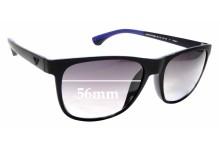 Sunglass Fix Replacement Lenses for Emporio Armani EA4046 - 56mm wide