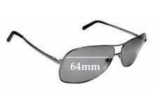 Sunglass Fix Replacement Lenses for Ermenegildo Zegna SZ 3126V - 64mm wide