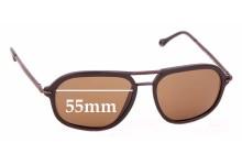 Sunglass Fix Replacement Lenses for Ermenegildo Zegna SZ 3197 - 55mm wide