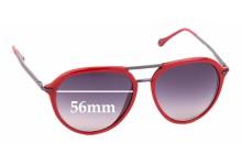 Sunglass Fix Replacement Lenses for Ermenegildo Zegna SZ 3198 - 56mm wide