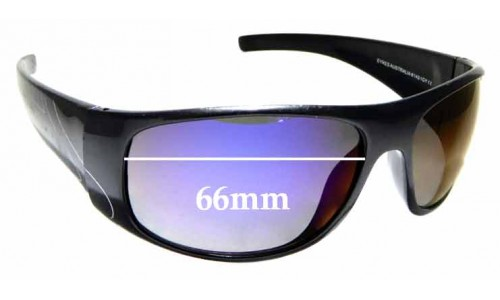 Sunglass Fix Replacement Lenses for Eyres Australia Safety 614 - 66mm wide