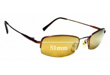 Sunglass Fix Replacement Lenses for Fedo FD110 - 51mm wide