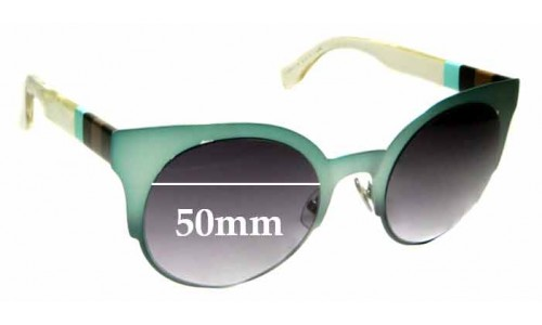 Sunglass Fix Replacement Lenses for Fendi FF 0080/S - 50mm wide