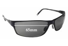 Sunglass Fix Replacement Lenses for Gargoyles Draft - 65mm wide