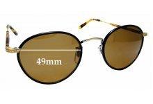 Sunglass Fix Replacement Lenses for Garrett Leight Wilson - 49mm wide