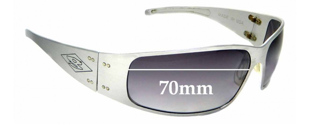 Sunglass Fix Replacement Lenses for Gatorz Quantum - 70mm wide