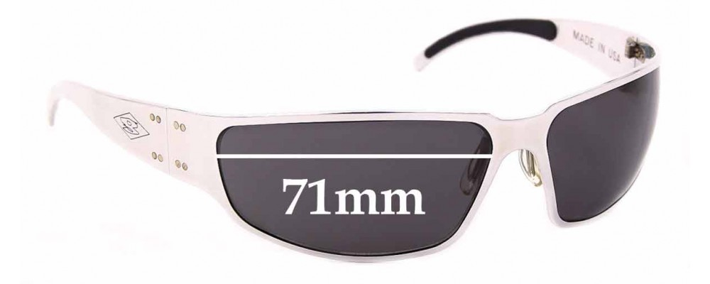 Sunglass Fix Replacement Lenses for Gatorz Velocity - 71mm wide