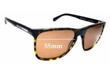 Sunglass Fix Replacement Lenses for Giorgio Armani  AR 8027 - 55mm wide