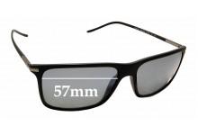 Sunglass Fix Replacement Lenses for Giorgio Armani AR8034 - 57mm wide