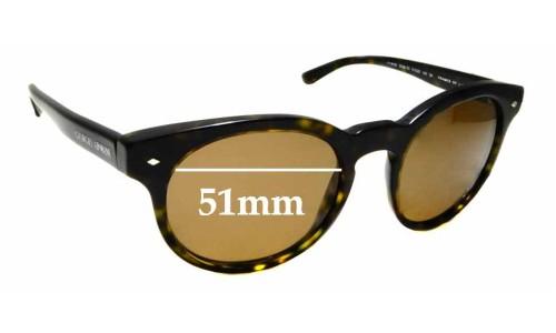 Sunglass Fix Replacement Lenses for Giorgio Armani AR 8055 - 51mm wide