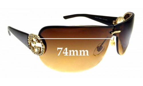 Sunglass Fix Replacement Lenses for Gucci GG4224S - 74mm wide