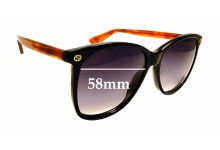 Sunglass Fix Replacement Lenses for Gucci GG0024S - 58mm wide