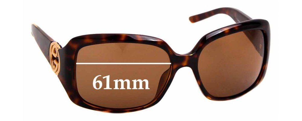 Sunglass Fix Replacement Lenses for Gucci 3164/S - 61mm wide